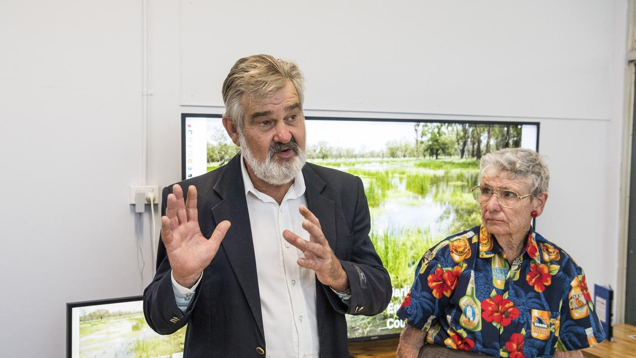 Paul King and OCAA president Aileen Harrison were both in Queensland Land Court on Thursday for the new directions hearing. Picture: Kevin Farmer