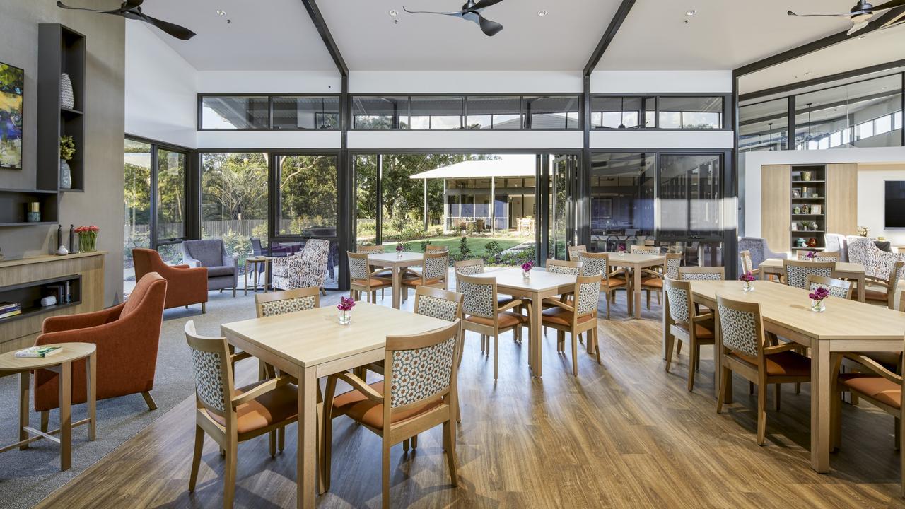 The dining room at Narangba Aged Care.