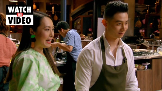 Therese fangirls over Reynold on MasterChef (Channel 10)