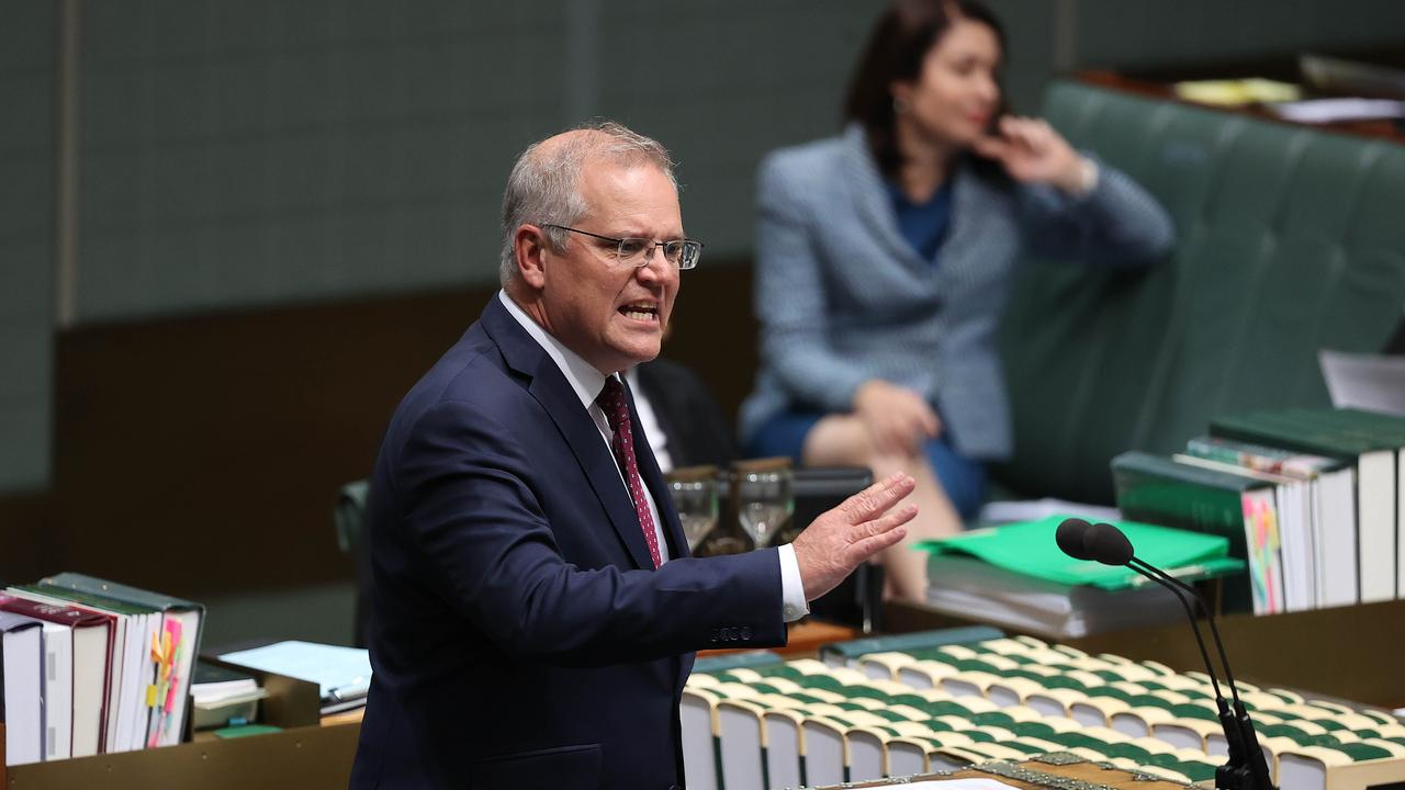 The Prime Minister refused to accept blame for the Victoria outbreak. Picture: NCA NewsWire/Gary Ramage