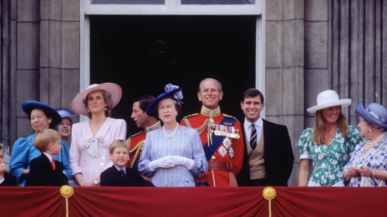 The Trooping the Colour ceremony in London in 1989. Picture: David Levenson/Getty Images