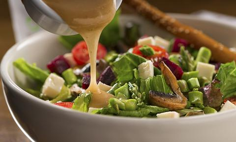 <b>SALAD DRESSING</b><p> Salad dressings have a high amount of oil, so the same rule for olive oil applies here. Yes, that's why sometimes when you're ready to dress a salad, nothing comes out because it's all stuck together!</p>