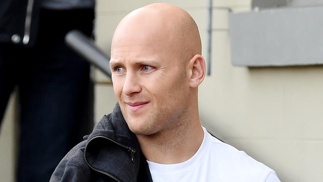 AFL Gold Coast footballer Gary Ablett leaves Melbourne Orthopedic Group, The Avenue, Windsor after an assessment on his shoulder that may need surgery. Picture: Nicole Garmston
