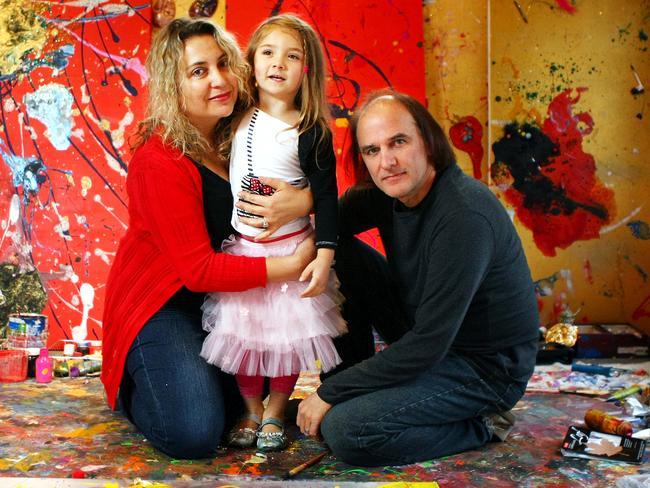 Aelita with mum Nikka and dad Michael.