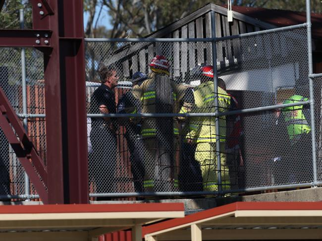Emergency crews at the incident in Dreamworld, Gold Coast. Photo: Regi Varghese