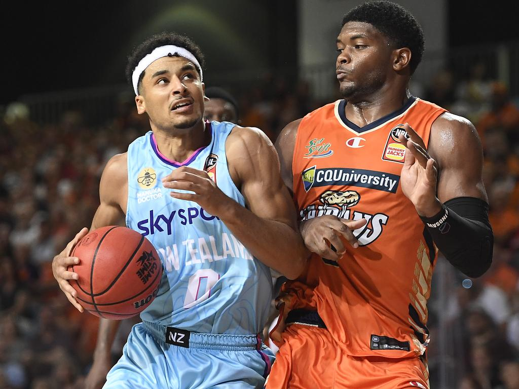 Tai Webster was brilliant for the New Zealand Breakers in the NBL last season. Picture: Ian Hitchcock / Getty Images