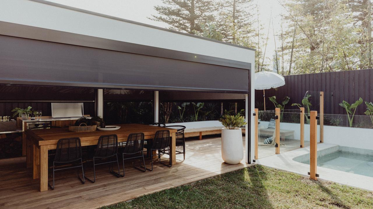 Luxaflex outdoor blinds provide shade and screening from the summer heat. Supplied.