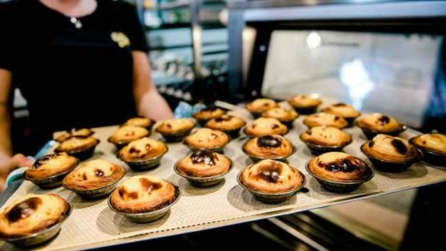 Custard Canteen, Palm Beach Raising the bar of what defines a good Portuguese tart, Custard Canteen pumps the delicious pastry out every 30 minutes at its establishment. Picture: Destination Gold Coast
