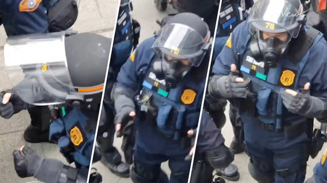 """Don't kill them, but hit them hard"" Officer tells team in Seattle"