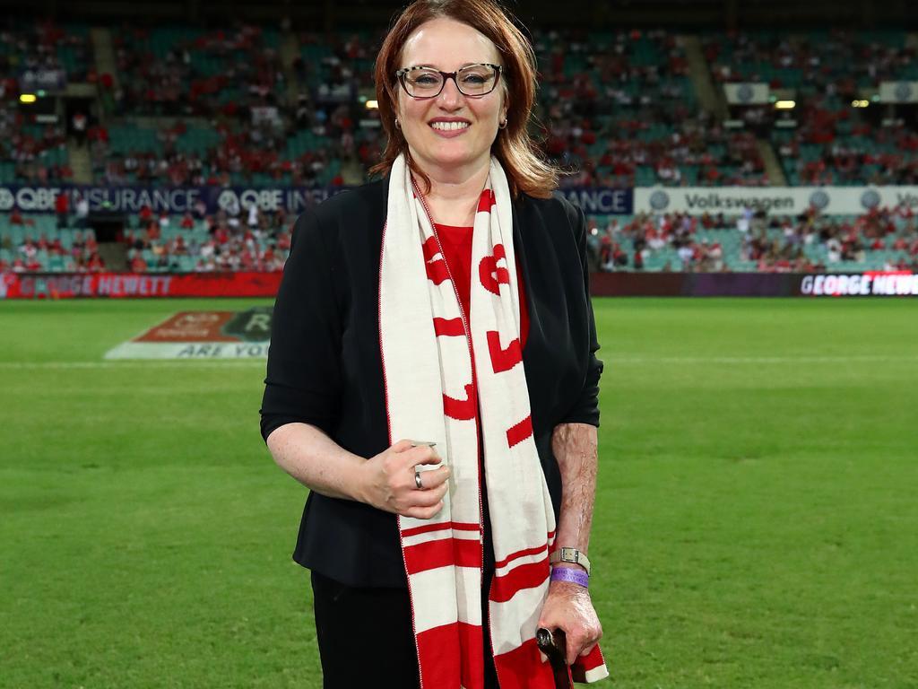Sydney Swans Ambassador Cynthia Banham has received a personal apology from Eddie McGuire.