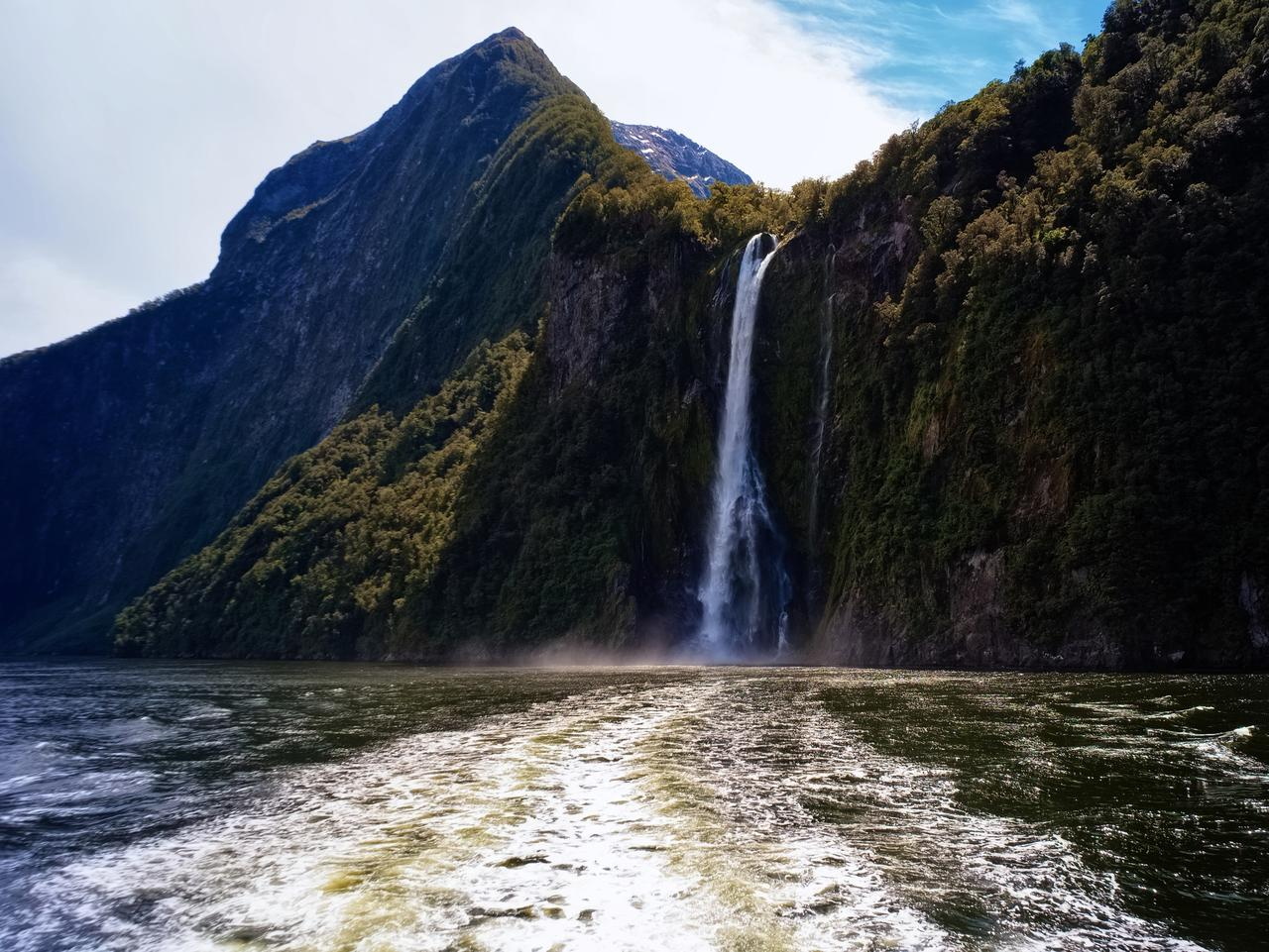 Waterfalls Of Milford Sound, New Zealand