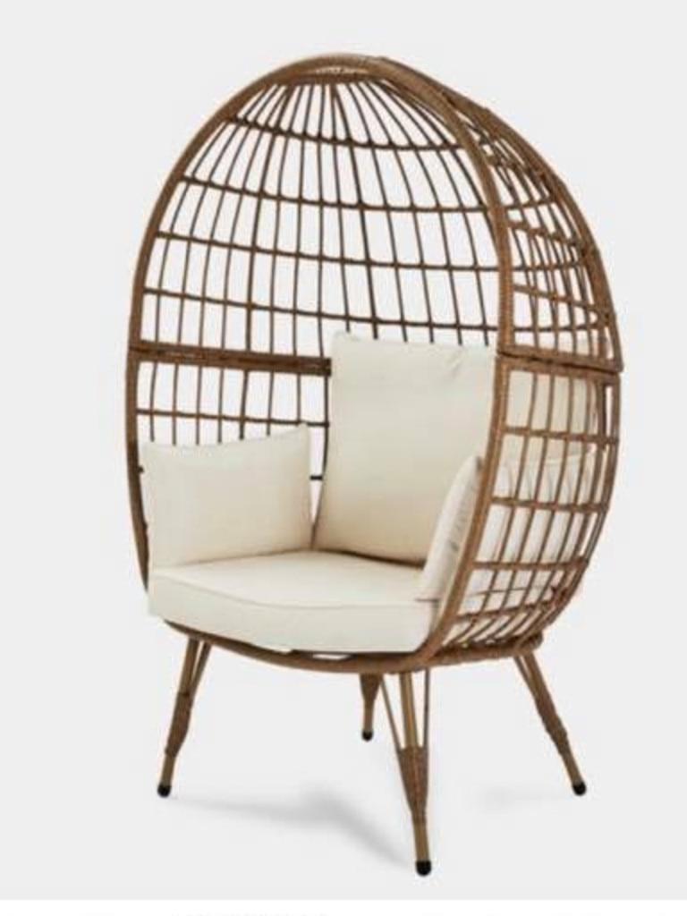 The $199 Kmart cocoon chair. Picture: Kmart Hacks & Decor