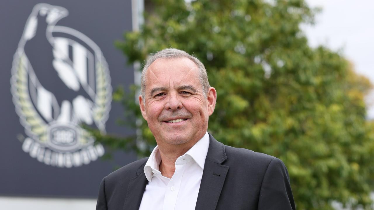 Mark Korda Collingwood AFL president.