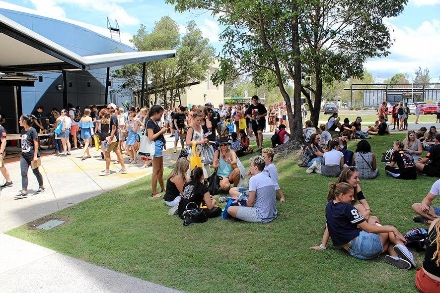 Some of this year's crop of new students getting settled into life at the University of the Sunshine Coast.
