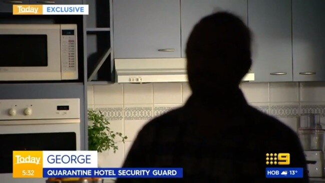 Security guard's explosive claims about quarantine hotels (Today Show)