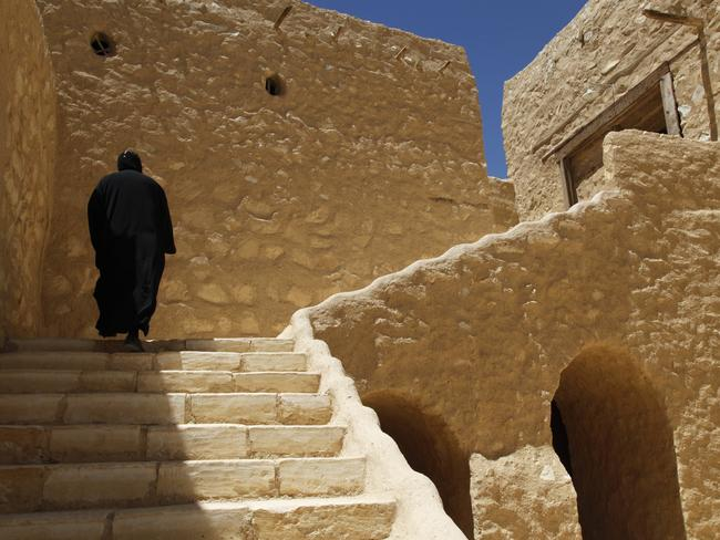 The killing of a bishop in a desert monastery north of Cairo has opened a window onto the cloistered world of Egypt's Coptic Orthodox Church. Picture: AP Photo/Manoocher Deghati