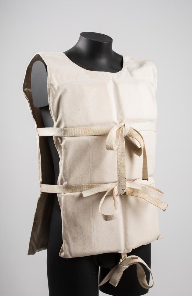 A lifejacket worn by a survivor.