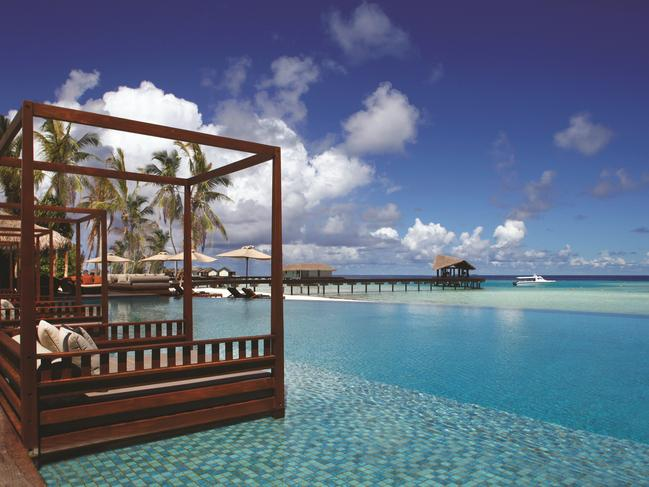 MALDIVES 6-DAY PACKAGE, $2979 Treat yourself to a holiday in the Maldives and save 44 per cent when you pay from $2979 a person to stay at The Residence Maldives, Falhumaafushi for five nights. Stay in a Beach Pool Villa and also receive buffet breakfast daily, return domestic flight from Male Airport to Kooddoo Airport, speedboat transfers and Maldives Green Tax. Book before March 31, 2020 and travel from May 1 to October 31, 2020. helloworld.com.au