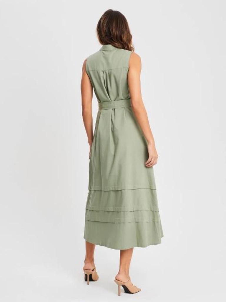 Willa Justice dress in khaki
