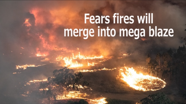 Fears fires will merge into mega blaze