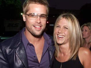 Brad Pitt was reportedly seen leaving Jen's holiday party very late and people are speculating. Image: AP