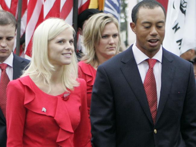 Tiger Woods and Elin Nordegren.