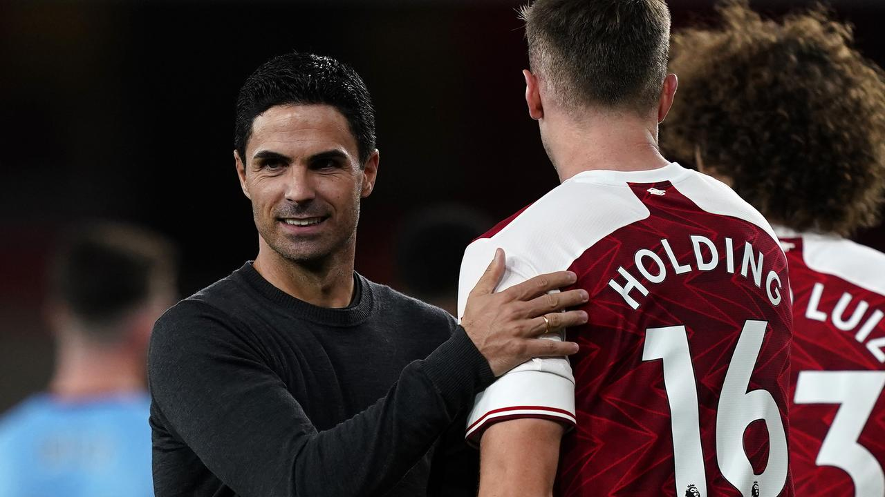 Mikel Arteta has revealed a personal apology from Arsenals owners. Photo: Getty Images