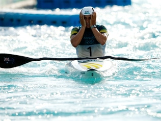 TOKYO, JAPAN - JULY 27: Jessica Fox of Team Australia reacts after her run in the Women's Kayak Slalom Final on day four of the Tokyo 2020 Olympic Games at Kasai Canoe Slalom Centre on July 27, 2021 in Tokyo, Japan. (Photo by Adam Pretty/Getty Images)