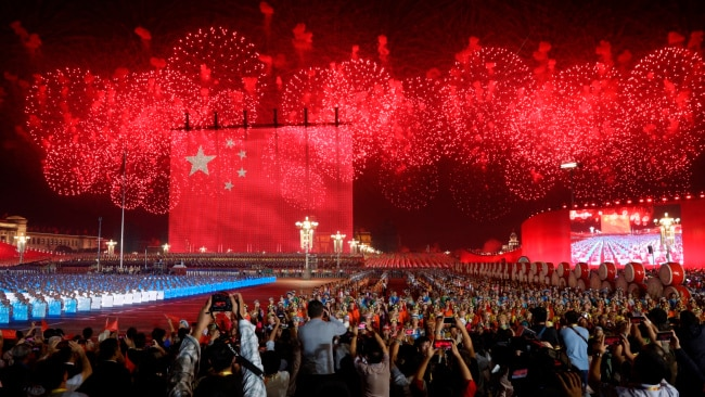 CCP holds fireworks celebration in Beijing. Picture: AP