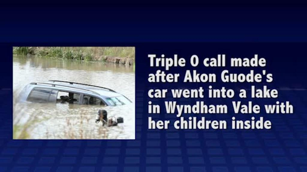 Triple 0 call moments after Akon Guode's car went into a Wyndham Vale lake