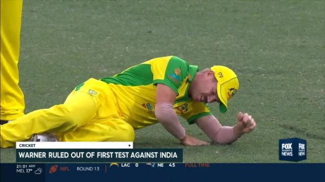 David Warner OUT of opening Test vs India