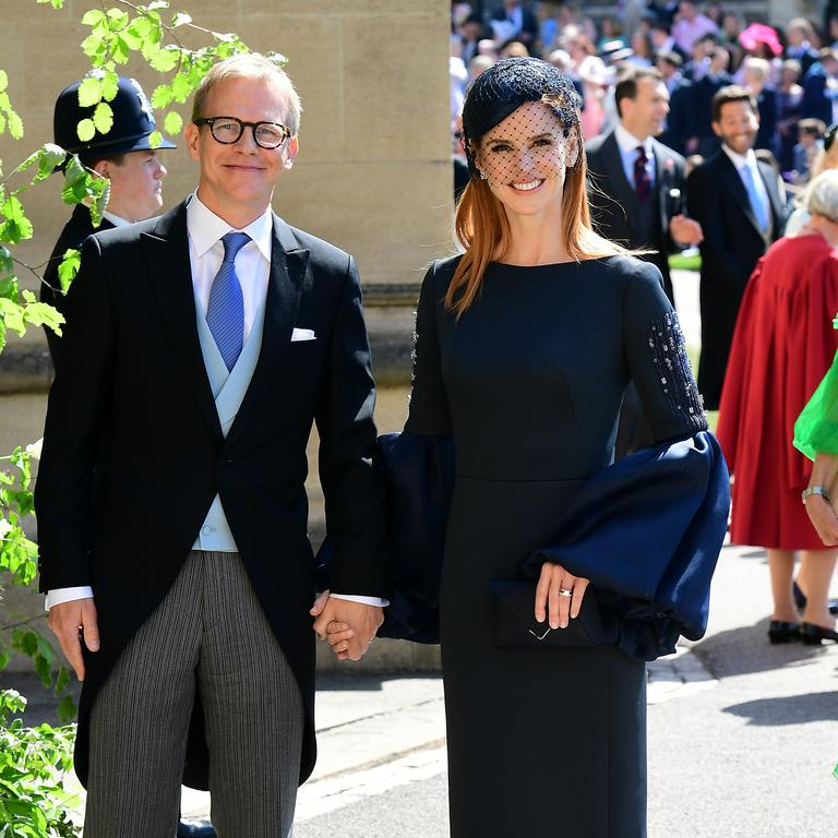 Actress Sarah Rafferty, pictured here at Meghan and Harry's wedding, is rumoured to be one of the 'five friends'. Picture: Getty