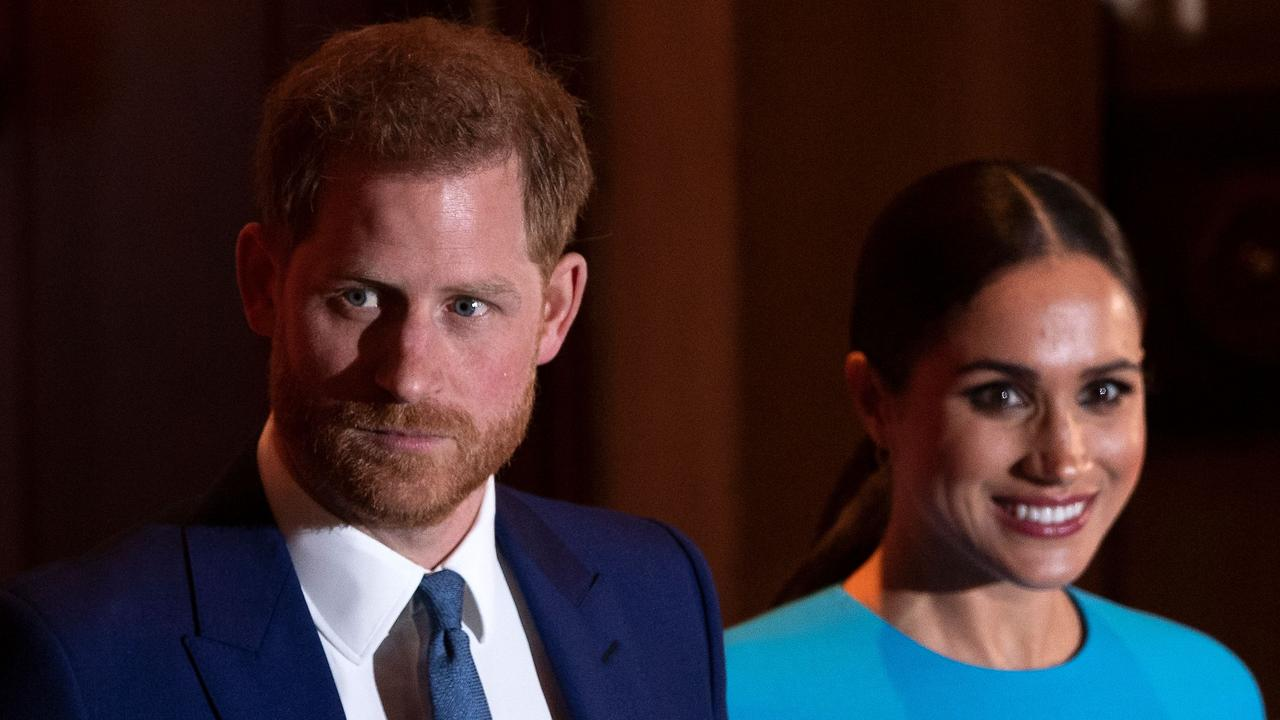 Prince Harry and Meghan Markle hammered out a deal with the royal before leaving in March. Picture: JUSTIN TALLIS / AFP.